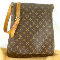 LOUIS VUITTON MUSETTE Crossbody Shoulder Bag Purse Monogram M51256 Brown