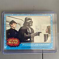 1977 Topps Star Wars #10 Princess Leia-Captured! Blue Series 1 (a)