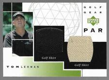 Tom Lehman 2003 Upper Deck Golf Gear PGA Tournament Worn Shirt Relics Par #GPTL
