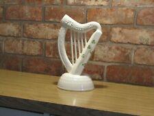 More details for donegal parian china irish celtic harp - porcelain large size in original box