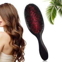 UK Anti-static Hair Extension Brush Nylon  Boar Bristle Oval Cushion