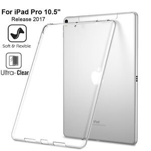 "Crystal Soft Clear Transparent TPU Silicone Case Cover Apple iPad Pro 10.5"" 2017"