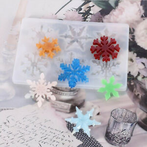 DIY Snowflake Silicone Mold Crafts Epoxy Resin Molds Crystal Jewelry MakingB SF