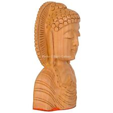 Vintage Handmade Collectible Carved Wood Wooden Buddha Head Figurine Statue Bust