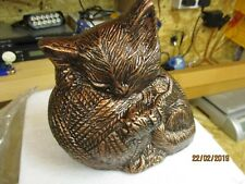 Large aluminum cat Urn to hold the ashes of your beloved pet cat remains