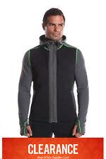 Kutting Weight Sauna Suit Weight Loss Neoprene Hooded Black & Green Jacket