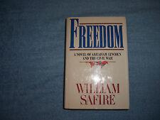 FREEDOM by Wiliam Safire/1st Ed/HCDJ/Literature/Fiction/Historical
