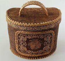 Wooden Birch Bark Kitchen Storage, Bread Box, Made in Russia