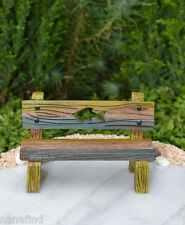 Miniature Dollhouse FAIRY GARDEN ~ Sea BEACH Lake Fishing Bench
