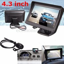 "4.3"" LCD Car Rear View Backup Mirror Monitor with Waterproof Reverse Camera Kit"
