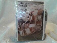 New listing Annie�s Crochet Afghan Stitch Sampler Afghan Blocks 10/12