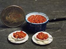 Dollhouse Miniature Chili Beans Food Set 1:12 One inch scale F49 Dollys Gallery