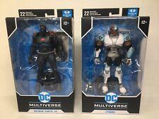 McFarlane DC Multiverse: Cyborg + Batman Earth -44 FACTORY SEALED Figure LOT