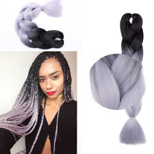 "24"" Afro Twist Braids Ombre Synthetic Kanekalon Jumbo Braiding Hair Extensions"