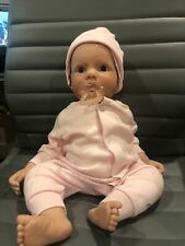 """Lee Middleton Doll """"Cuddle Me"""" Girl Blonde in Pink Outfit by Reva Schick COA/IOB"""