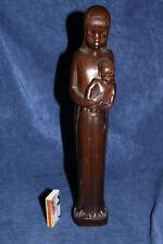 Afrika Makonde Figur Madonna + Kind 1950-60er Skulptur Mosambik Ebenholz Kunst