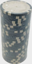 Poker Chips (25) S1 Grey 11.5 g Clay Composite Custom Inlay Ready FREE SHIPPING*