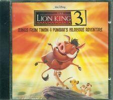 The Lion King 3 Hakuna Matata Timon & Pumbaa Ost Cd Ottimo