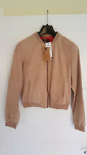 TIMBERLAND MOUNT TABOR JACKET GOAT LEATHER SUEDE BOMBER BIKER WOMEN'S LADIES 8