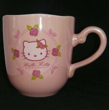 Sanrio Rare Vintage HELLO KITTY Rose Pink Luster Shiny Ceramic Child Size Mug