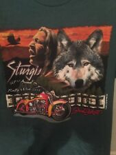61st Sturgis Rally Week 2001 T Shirt Color Graphics Tee Bikers Green Size M