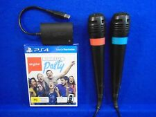ps4 SINGSTAR ULTIMATE PARTY New & Sealed + 2 Wired Microphones PAL REGION FREE