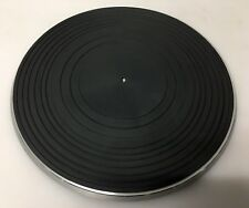 "JVC L-A120 Turntable Metal Platter E10816 & Rubber Mat 11 1/4"" E24351 Parts"