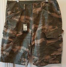 G-Star Green Cargo Camo Shorts Size 36