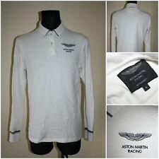 HACKETT ASTON MARTIN RACING Men's size MEDIUM Long sleeve Polo neck T-Shirt