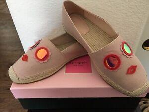 NIB Kate Spade Grenada Glasses Lips Espadrilles Shoes 9