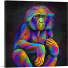 ARTCANVAS Bonobo Monkey Pygmy Chimpanzee Africa Great Ape Canvas Art Print