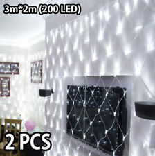 2X LED Net Mesh String Lights Outdoor Waterproof Christmas Wedding Party Holiday