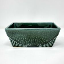 Vintage Mid-Century Hull Pottery Planter 75 USA Footed Green Glaze