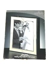 """Godinger Silver Plated Silver Diamonds Wedding Album Holds 8"""" X 10"""" In Cover"""