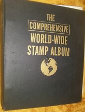 THE COMPREHENSIVE WORLD-WIDE STAMP ALBUM many Stamps.