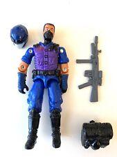 GI Joe Red Laser Black Major Blue Purple Viper Cobra Black Hair Removable Helmet