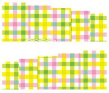 Nail Art Decals Transfers Stickers Multi Chequered Pattern (A-125)