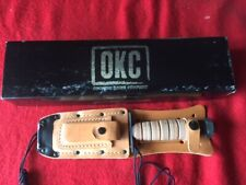 USA MADE RAAF / USAF PILOTS SURVIVAL KNIFE LEATHER SHEATH WITH SHARPENING STONE