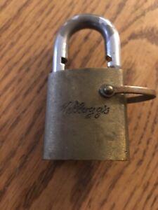 Vintage Kellogg's Logo Best Lock Padlock No Core/Key Collectible USA
