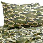4-Pc SALT Camouflage Full/Full XL Sheet Set Army Green Beige Black Modern 300 TC