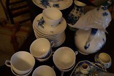 Royal Copenhagen - Blue Flowers - Coffee/Tea Dessert Service for 10