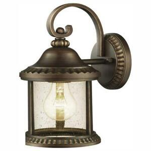 Home Decorators Collection Cambridge Outdoor Essex Bronze Wall Lantern Sconce