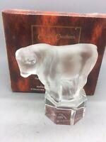 Rare Nachtmann Glass figurine Bull paperweight