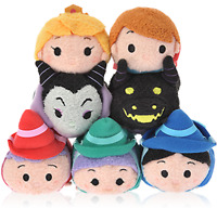 SLEEPING BEAUTY TSUM TSUM PLUSH DOLL SET OF 7 DISNEY STORE JAPAN