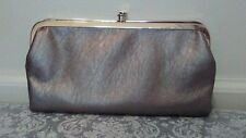 Sm PVC Leather Purse Taupe Special Occasion Clutch ++Pockets/Compartments Formal
