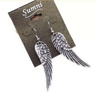 RETRO Angel Wings Tibet Silver Drop Dangle Earrings ALLOY Jewelry Vintage HS65
