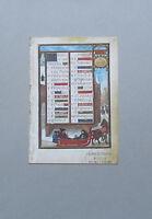 KALENDERBILD JANUAR Buchmalerei Faksimile Bilderhandschrift art print
