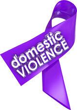 2 X DOMESTIC VIOLENCE AWARENESS RIBBON VINYL STICKER CAR DECAL U.K POST ONLY