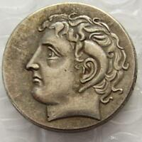 Ancient Greek Silver Coins OOAK Collectible Didrachm Coin from Kyrene 308 BC