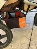 BOB Revolution Duallie Stroller - Orange & Cream - Bag Lower Storage - Used